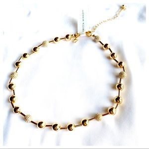 Pave' Sphere Gold Bead Necklace by Rebecca Minkoff